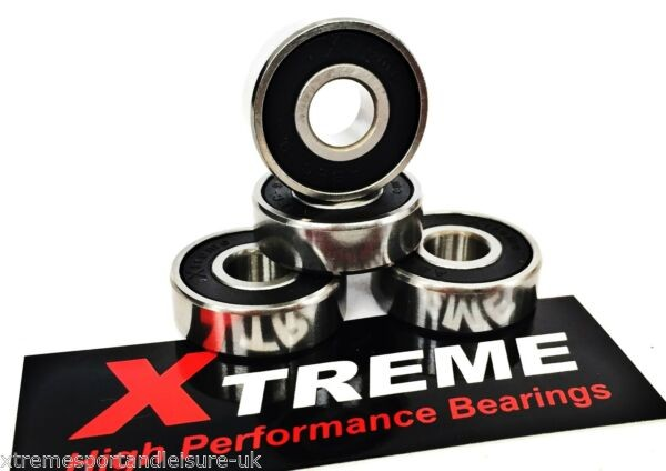 4 Pack ABEC 9 STAINLESS STEEL Xtreme 608 HIGH PERFORMANCE RUSTPROOF BEARINGS