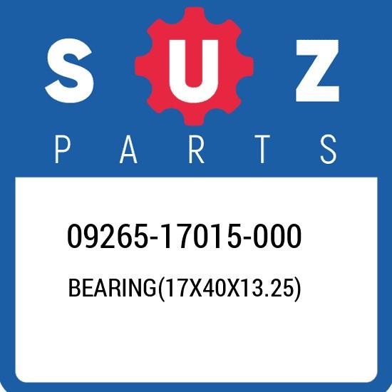 09265-17015-000 Suzuki Bearing(17x40x13.25) 0926517015000, New Genuine OEM Part
