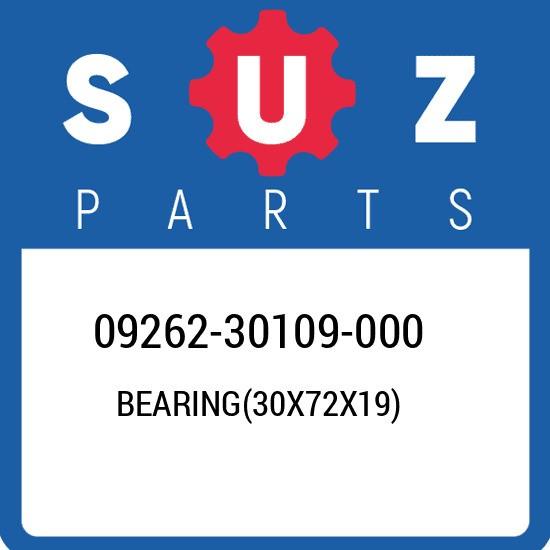 09262-30109-000 Suzuki Bearing(30x72x19) 0926230109000, New Genuine OEM Part