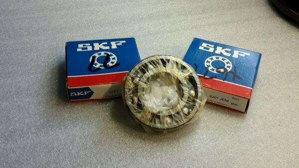 SKF 6207-JEM BALL BEARING (LOT OF 2) NEW $29