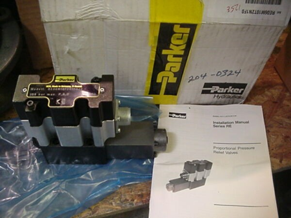 New NiB Parker hydraulic Proportional pressure relief valve RE06M10T2N1F020