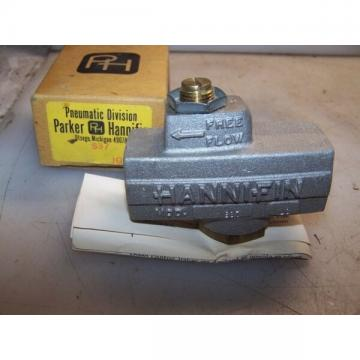 "NEW PARKER HANNIFIN 3/8"" PORT PNEUMATIC SPEED CONTROL VALVE MODEL S37"