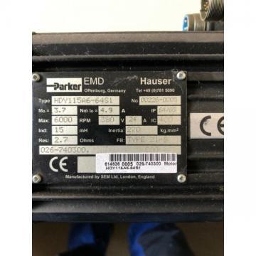 Servo Motor Parker Hauser HDY 115a6-64s1 GEARBOX PL 115s/op 6 by Neugart